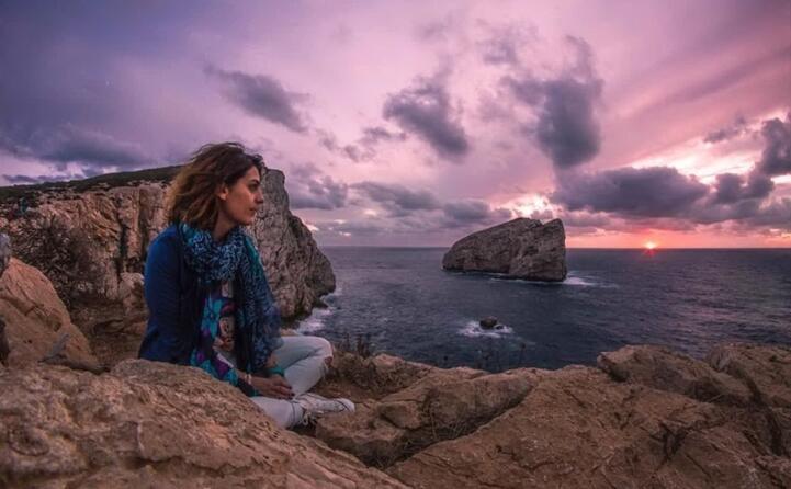 ammirando il tramonto dalla scogliera di capo caccia ad alghero (foto _cristian_80)