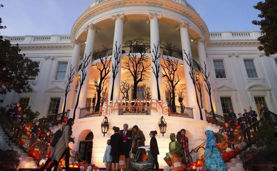 la casa bianca in versione terrificante