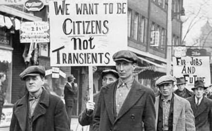 molte persone rimasero senza lavoro (foto wikipedia)