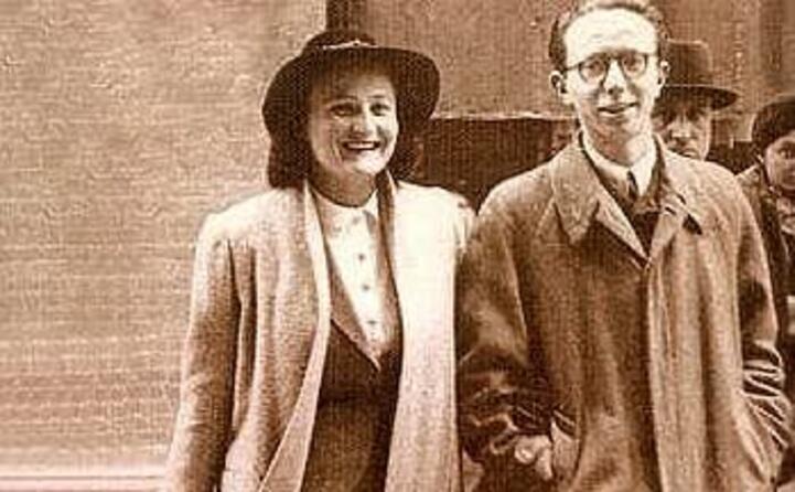 con la moglie lucia ghetti negli anni quaranta
