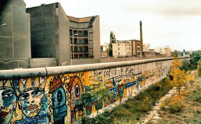 il muro di berlino prima del crollo nel 1989 (foto fornite dall autore)