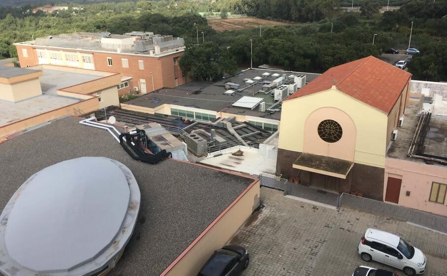 uno scorcio dell ospedale di carbonia (foto scano)