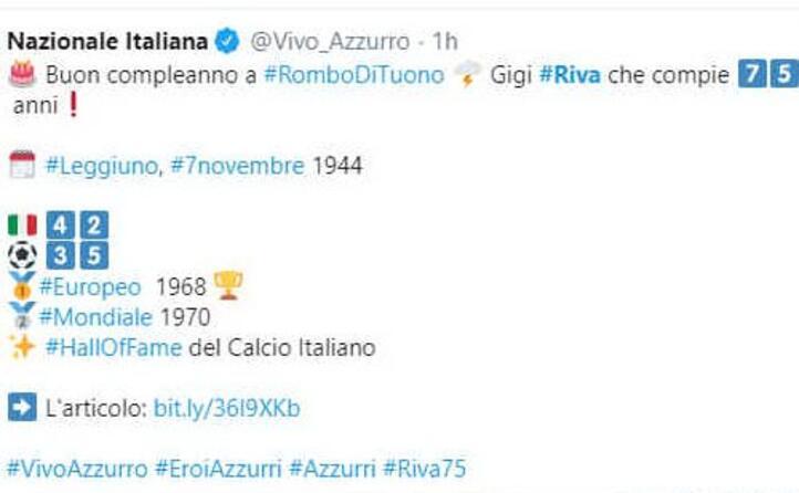 gli auguri della nazionale italiana