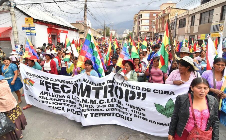 la protesta in bolivia (ansa jorge abrego)