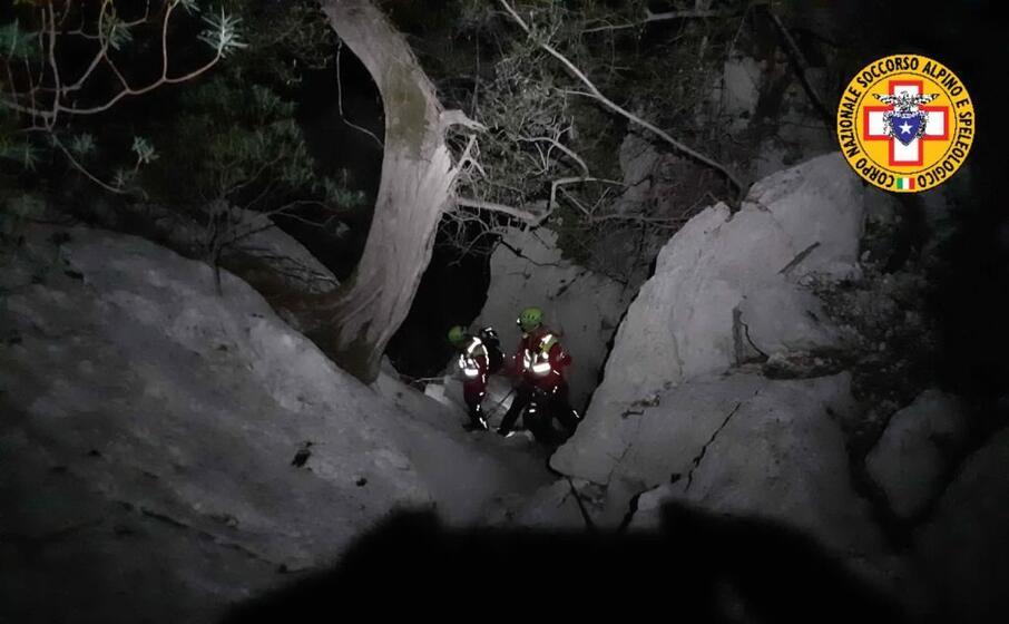 l intervento (foto soccorso alpino e speleologico della sardegna)