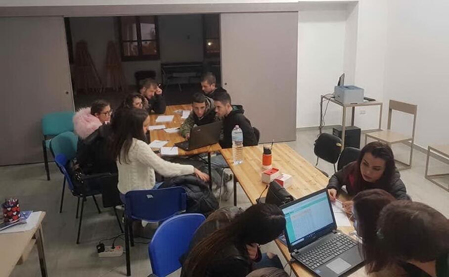 laboratorio sull imprenditoria a gesico (foto severino sirigu)