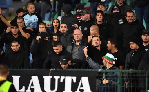 Ultras a Budapest (Ansa)