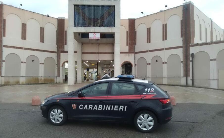 il centro commerciale (foto carabinieri di cagliari)