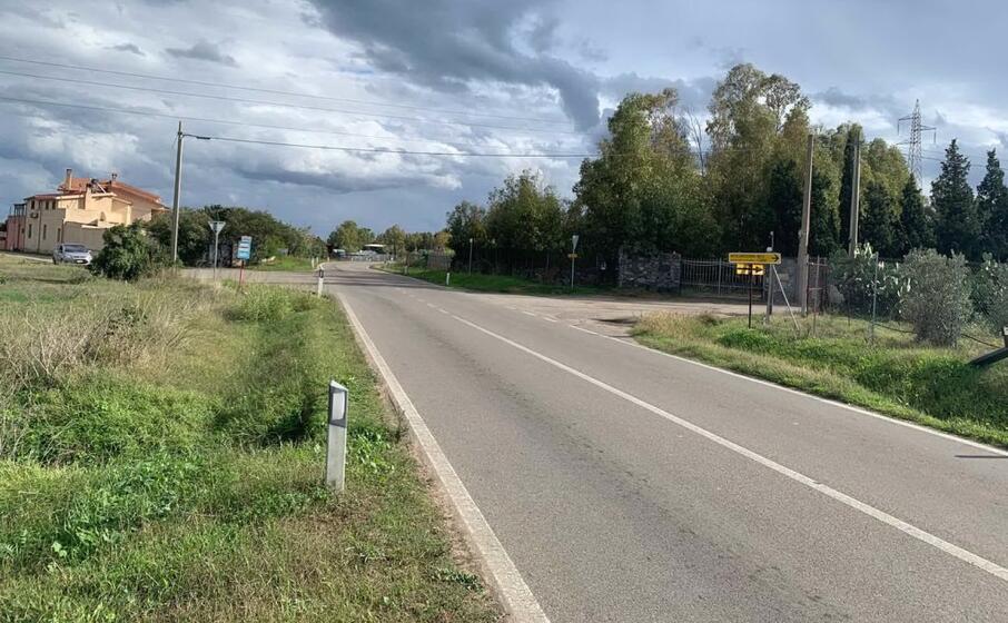 la strada lungo la quale verr realizzata la rotatoria (foto murgana)