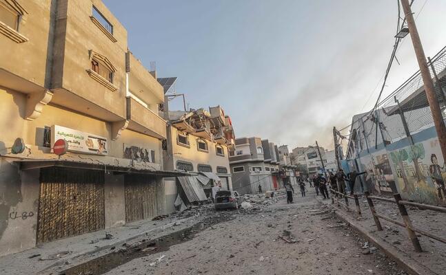 la zona in cui sarebbe stato ucciso il leader della jihad islamica (ansa)