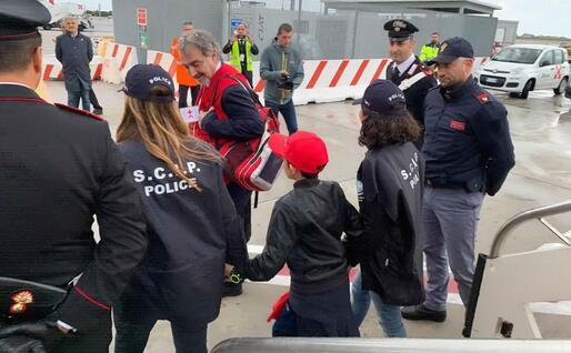 Alvin a Fiumicino (foto Polizia)