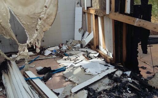 Distruzione in un locale