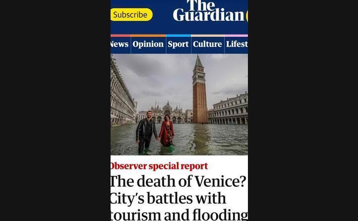 il guardian parla della morte di venezia