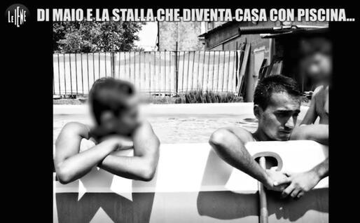 """Il ministro e il bagno in piscina nella """"stalla"""" (Ansa)"""