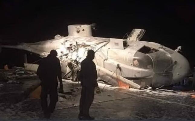l elicottero caduto (fermo immagine da videolina)