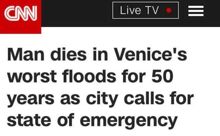 la cnn riporta la notizia della vittima