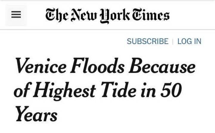 la notizia ripresa dal new york times