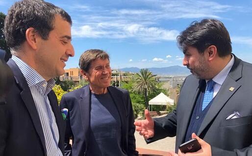 A colloquio con Christian Solinas (foto L.P.)