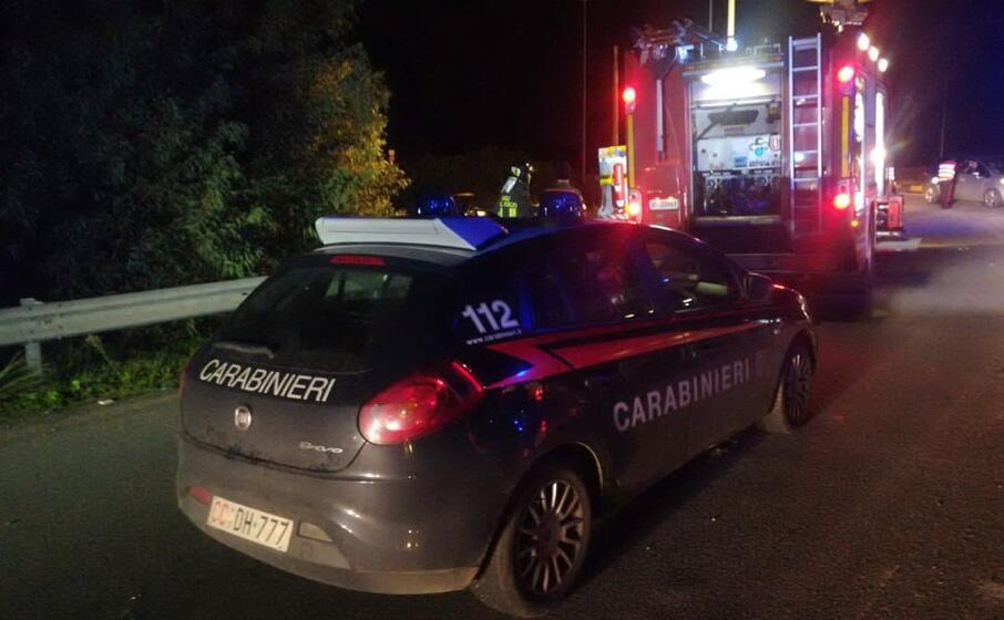 il luogo dell incidente (foto carabinieri di villacidro)