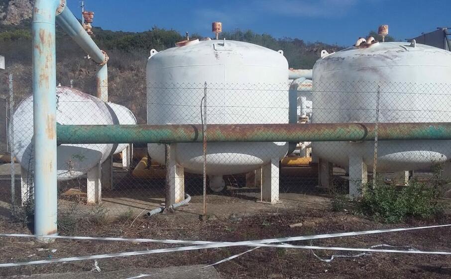 il potabilizzatore comunale i cui lavori di riattivazione sono quasi ultimati (foto simone farris)