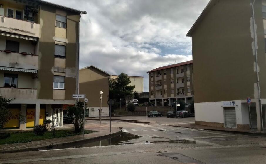 il quartiere popolare villaggio verde di porto torres (l unione sarda foto tellini)