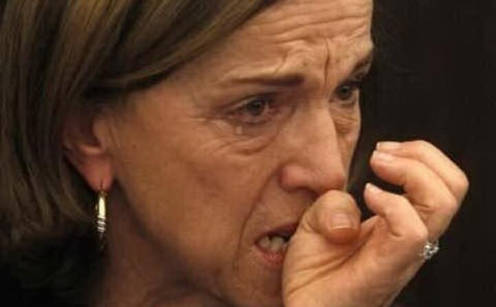 le lacrime del ministro fornero che annuncia sacrifici per gli italiani (foto youtube)
