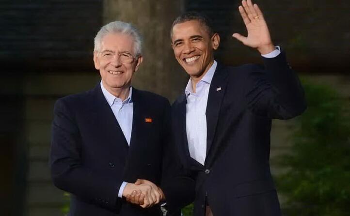 monti con il presidente americano barack obama (archivio l unione sarda)