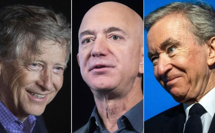 ecco gli uomini pi ricchi del pianeta gates bezos e arnault