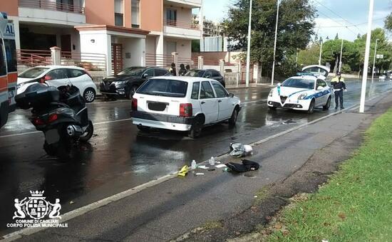 Cagliari, auto contro scooter: 46enne ricoverato al Brotzu - L'Unione Sarda.it