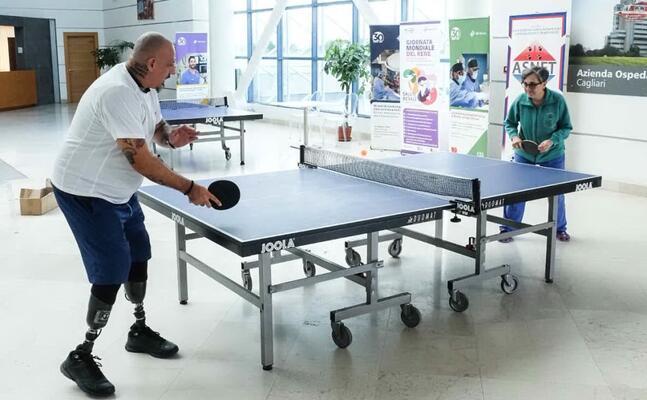 il torneo di ping pong al brotzu (foto l almiento)