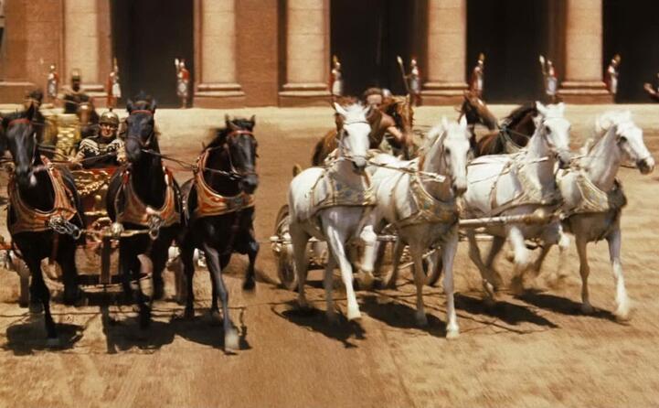 la celebre scena della corsa delle bighe (foto wikipedia)