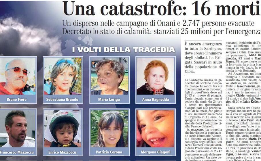i volti e i nomi di 8 delle 16 vittime