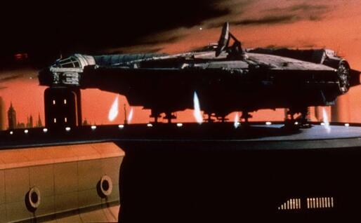 Il Millennium Falcon (Archivio L'Unione Sarda)