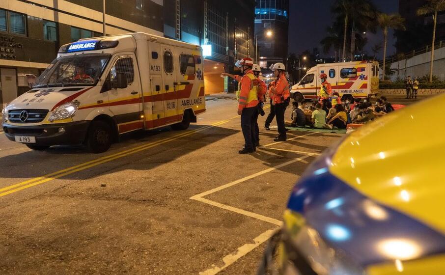 l intervento dei soccorritori