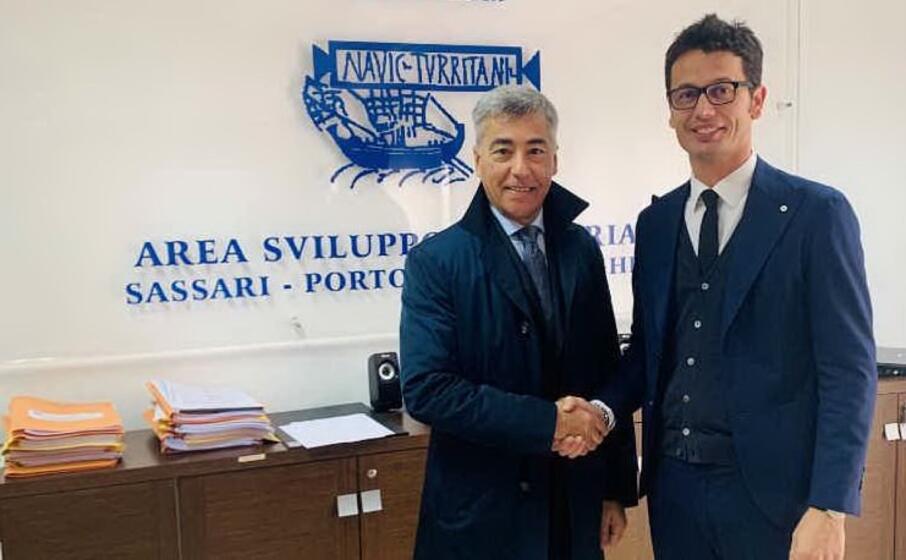 scanu con l ex presidente del cip taula (foto ufficio stampa)