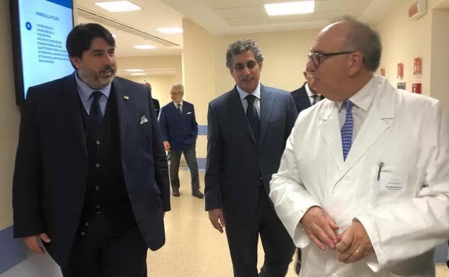 il presidente solinas e il direttore sanitario marcello acciaro