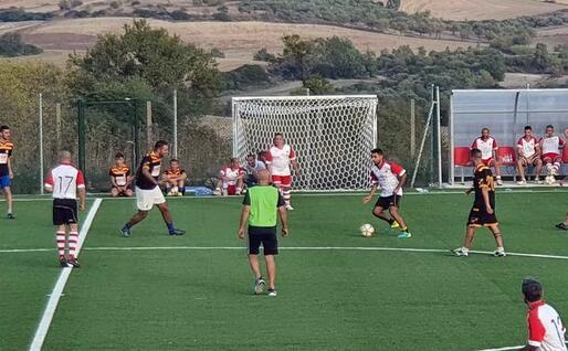 La partita (foto L'Unione Sarda - Pintori)