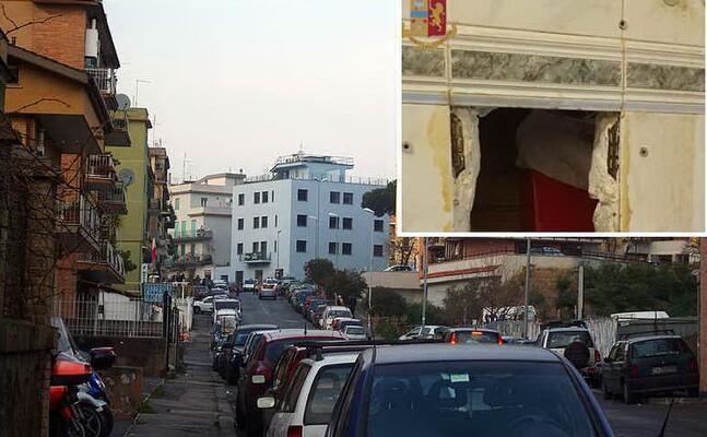 il quartiere primavalle a roma (wikipedia) nel riquadro il vano segreto (polizia)