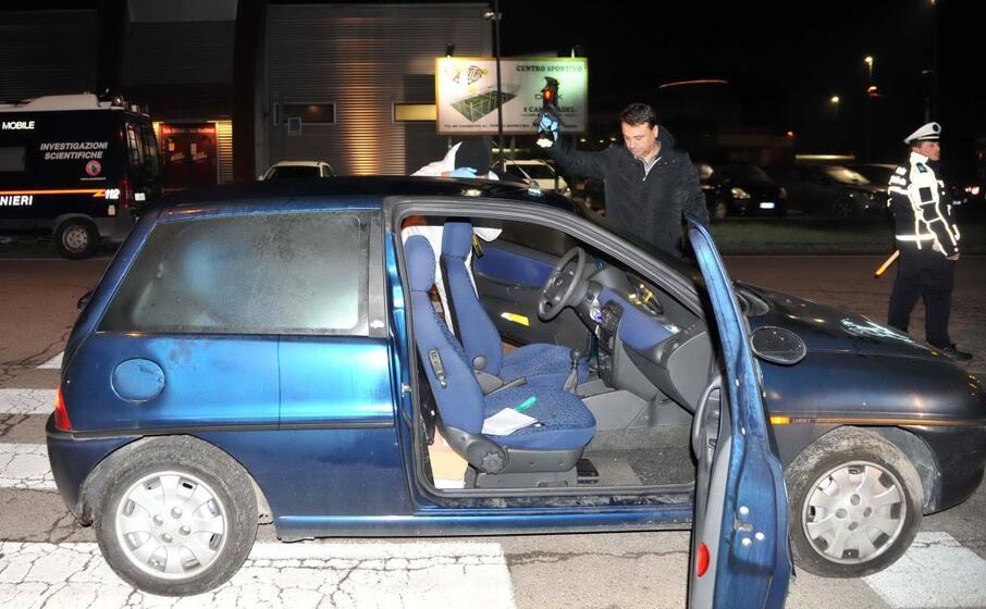 l auto guidata dalla vittima (ansa pesci)