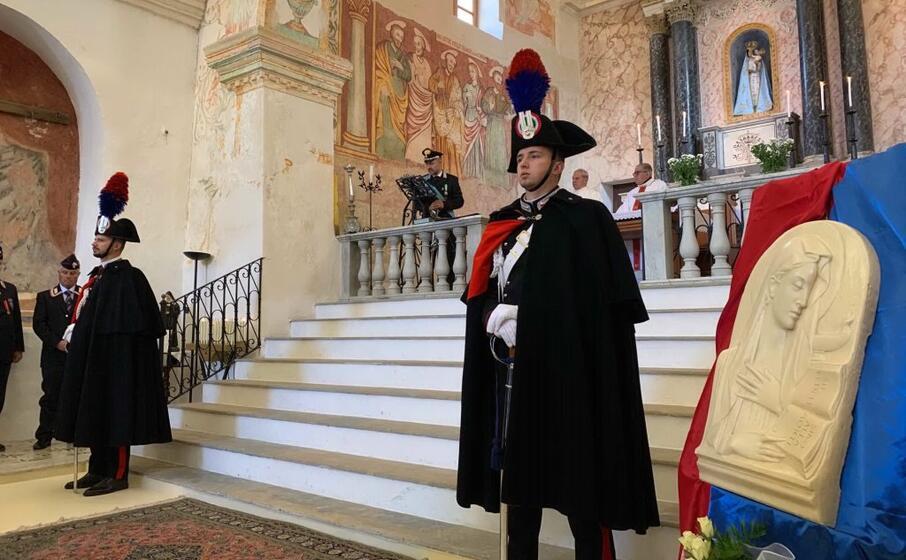 un momento della virgo fidelis (foto carabinieri)