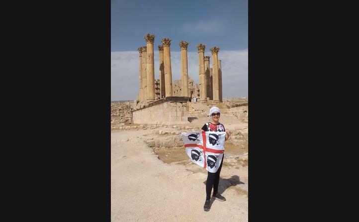 elisabetta curreli (di iglesias) a jerash in giordania