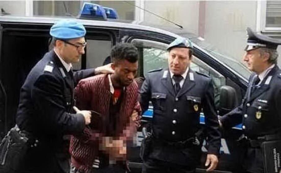 l arresto di innocent oseghale (archivio l unione sarda)