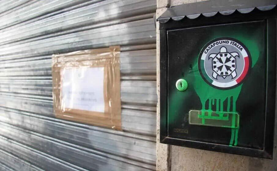 la sede di casapound chiusa per provvedimento dell autorit giudiziaria (archivio l unione sarda)