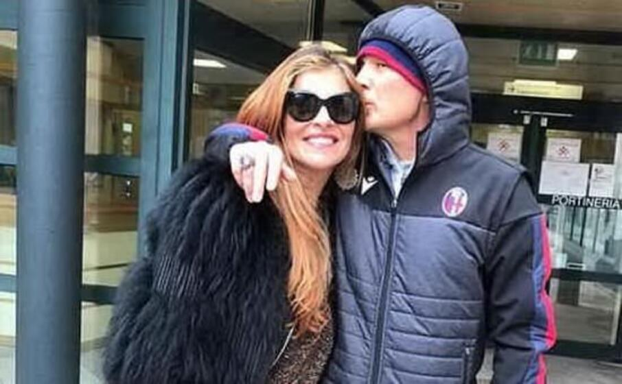 mihajlovic con la moglie arianna (foto instagram)