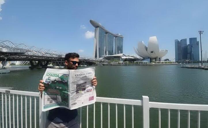 federico angius da cagliari in viaggio a singapore
