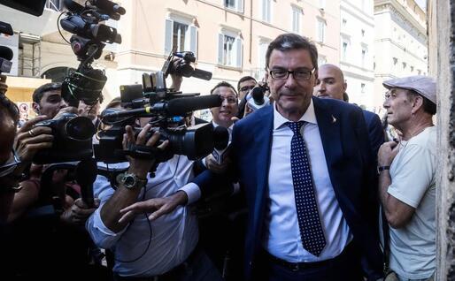 Giancarlo Giorgetti (Lega) arriva in Senato