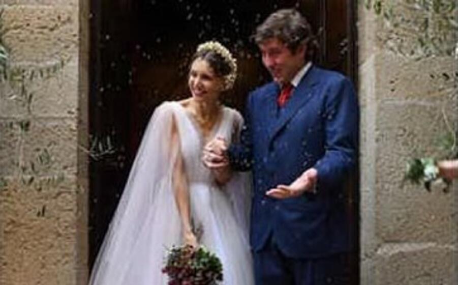 Nicoletta Romanoff e Federico Alverà, il matrimonio in Toscana