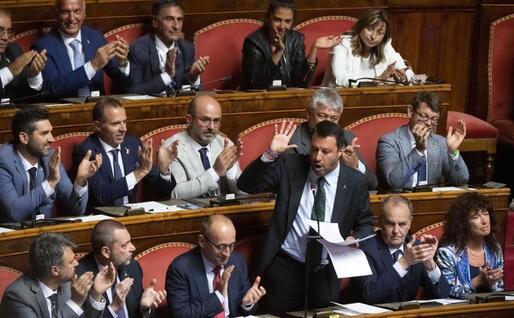 La replica di Salvini al discorso di Conte (Ansa)