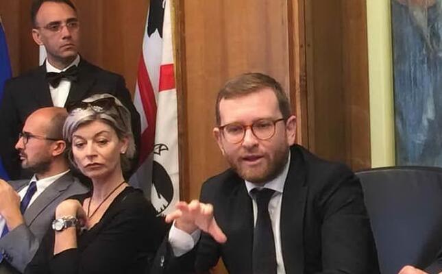 il ministro provenzano a cagliari (foto l unione sarda murgia)