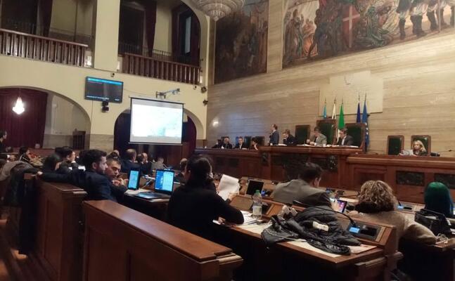 l aula del consiglio comunale (foto m careddu)
